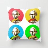 mozart Throw Pillows featuring Mozart Kugeln 4c by Marko Köppe