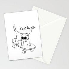CARELESS CAT - C'EST LA VIE Stationery Cards