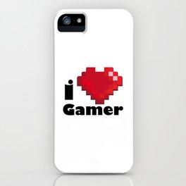 I LOVE GAMER iPhone Case