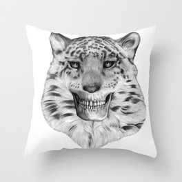 TIGERSKULL Throw Pillow