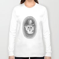 chaplin Long Sleeve T-shirts featuring cyber chaplin by ronnie mcneil