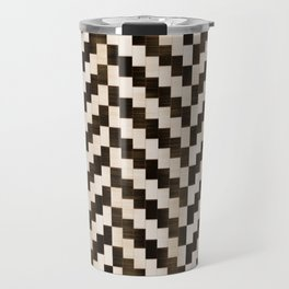 Brown herringbone Travel Mug