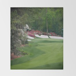 Augusta Amen Corner Golf Throw Blanket