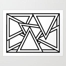 Lost in Triangularity Art Print