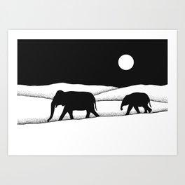 Elephants Dream II Art Print