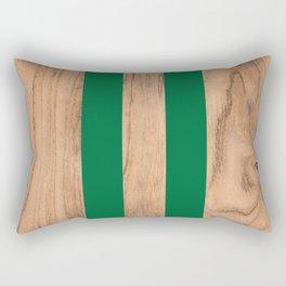Wood Grain Stripes - Green #319 Rectangular Pillow
