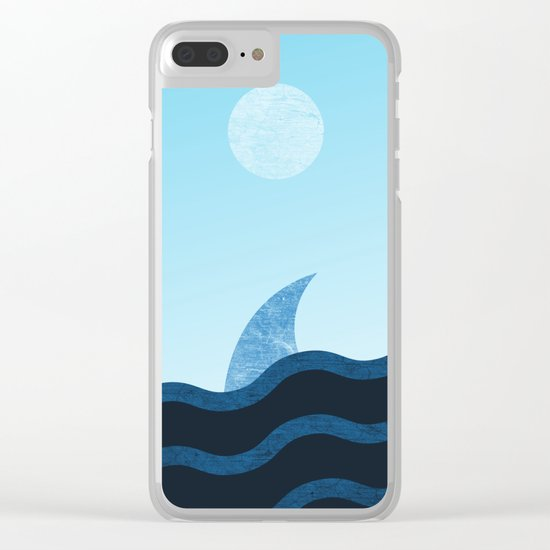 Morning Shark in Sea Waves Clear iPhone Case