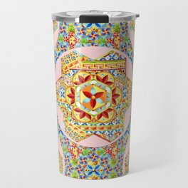 Gypsy Boho Chic Hexagons Travel Mug