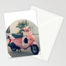 Pink Scooter Stationery Cards