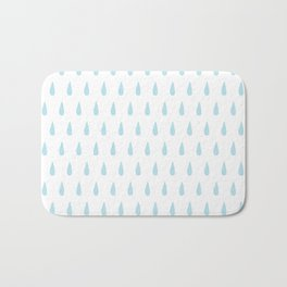 drops pattern blue Bath Mat