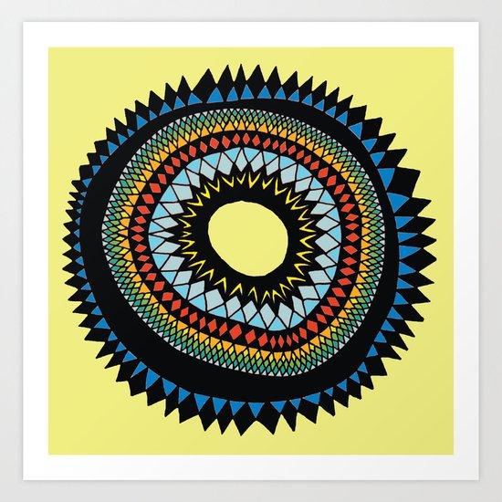 Patterned Sun II Art Print
