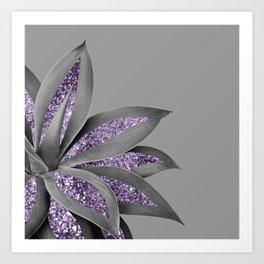 Agave Finesse Glitter Glam #4 #tropical #decor #art #society6 Kunstdrucke