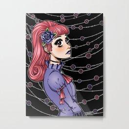 Pink Hair Gothic Lolita Metal Print