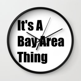 Bay Area California Wall Clock