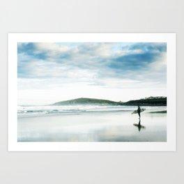 Fistral Surfer Art Print