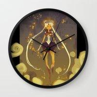 sailormoon Wall Clocks featuring SailorMoon by samanthadoodles