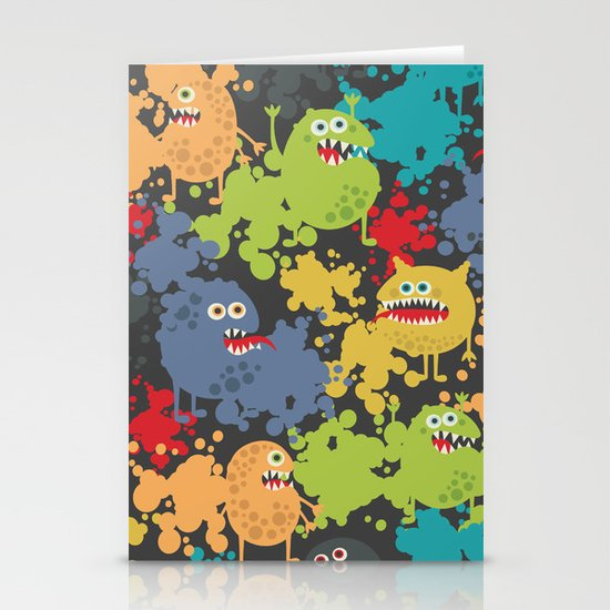 Funny microbes. Stationery Cards