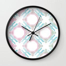 Pastel Diamonds Wall Clock