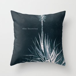 Cyanotype - Aloe Socotrina - Cropped Throw Pillow