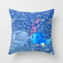 Fish In Love Throw Pillow