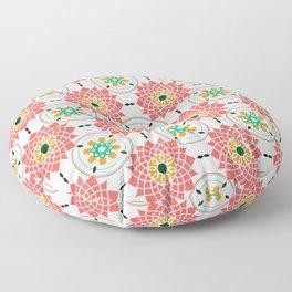 morrocan pink mandala pattern no4 Floor Pillow