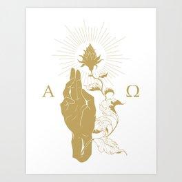 Alpha and Omega Art Print