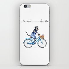 Cat on a Blue Bicycle iPhone Skin