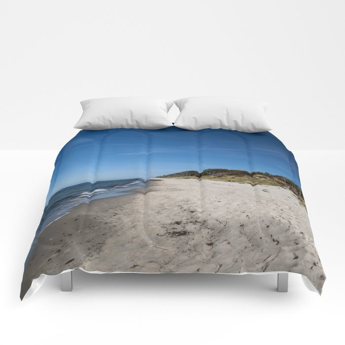 Rough seascape Comforters