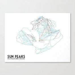 Sun Peaks, BC, Canada - Minimalist Trail Art Canvas Print