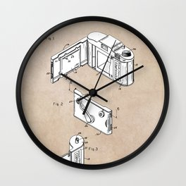 patent art Frye Roll film camera 1950 Wall Clock