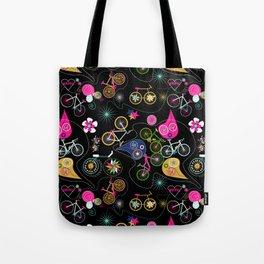 Cycledelic black Tote Bag