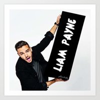 liam payne Art Prints featuring Liam Payne by girllarriealmighty