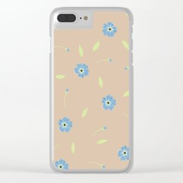 Forget me not flowers Clear iPhone Case