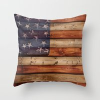 america Throw Pillows featuring america by Arken25
