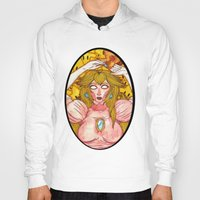 princess peach Hoodies featuring Princess Peach by Jazmine Phillips