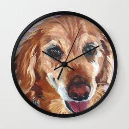 Cody the Golden Retriever Wall Clock