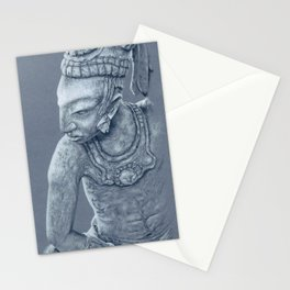 mayan nobleman Stationery Cards