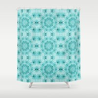 teal Shower Curtains featuring Teal by lillianhibiscus