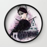 fairytale Wall Clocks featuring Fairytale by Alendro
