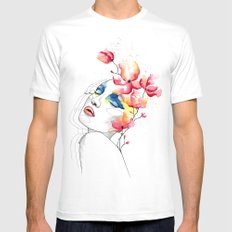 True colors White MEDIUM Mens Fitted Tee
