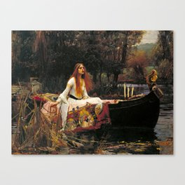 The Lady of Shalott - John William Waterhouse Canvas Print