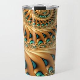 Fractal Splendor, Modern 3D Art Travel Mug