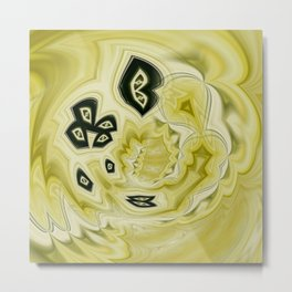 Yellow & black flow Metal Print