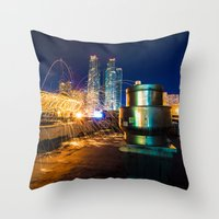 metallic Throw Pillows featuring Metallic by Sonic Highlark