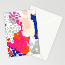 Mica - bright happy abstract painting trendy color palette modern home decor nursery art Stationery Cards