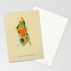 Rio map Stationery Cards