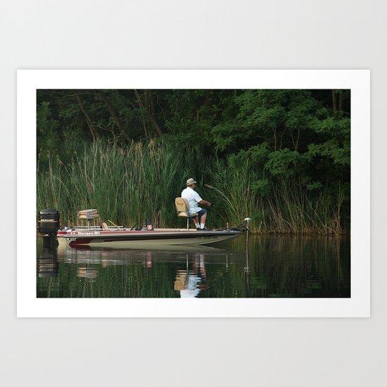 I'd Rather Be Fishin' Art Print