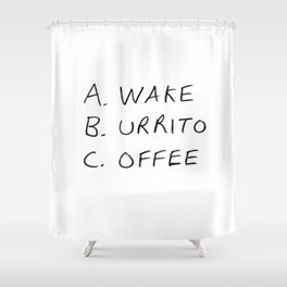 Breakfast Coffee ABC Shower Curtain