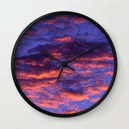 Pink and Blue Sky Wall Clock