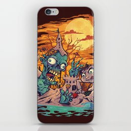 Zombie At The Beach  iPhone Skin